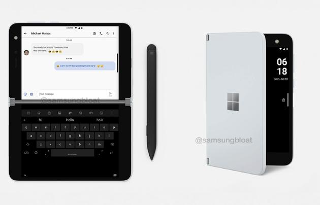 Surface Duo更多信息曝光:标配手写笔 售价9700元