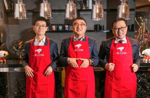 左起:京东数字科技CEO陈生强、京东商城CEO徐雷、京东物流CEO王振辉