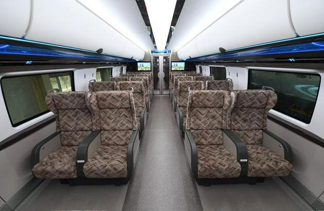 时速600公里的高速磁浮列车车厢内部。中国中车 供图