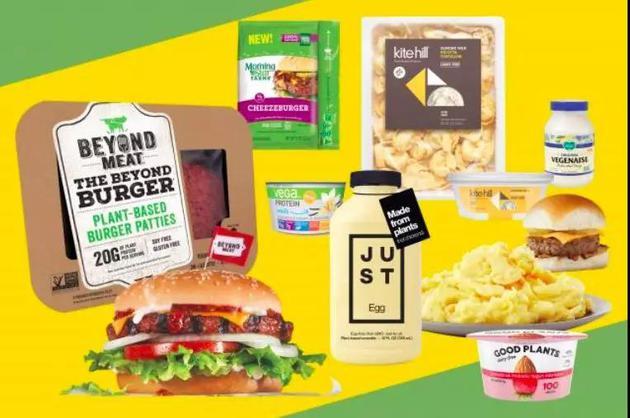 ▲ 各种各样的素食产品。 图片来自:adage
