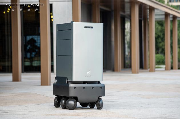 图:hachi delight智能物流机器人在智慧社区内自动送货