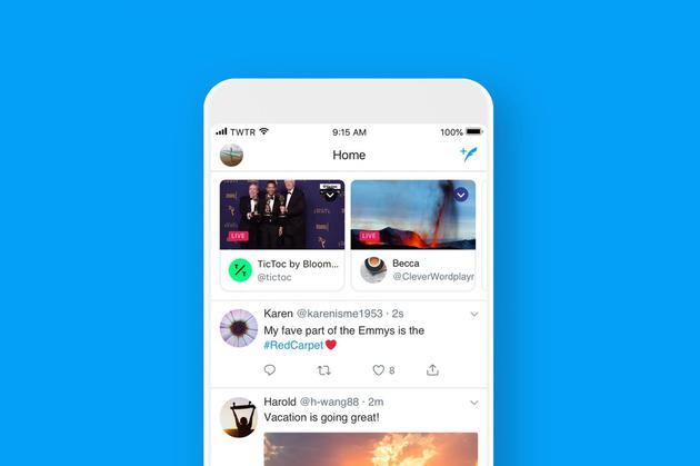 Twitter为方便用户实时查看直播功能:将直播放在时间线顶端