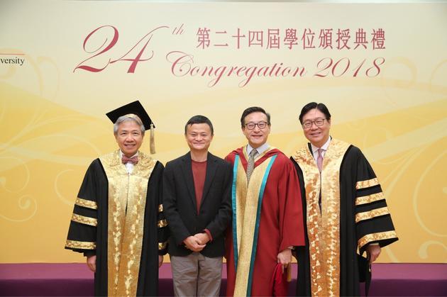 阿里执行副主席蔡崇信获香港教育大学荣誉博士学位