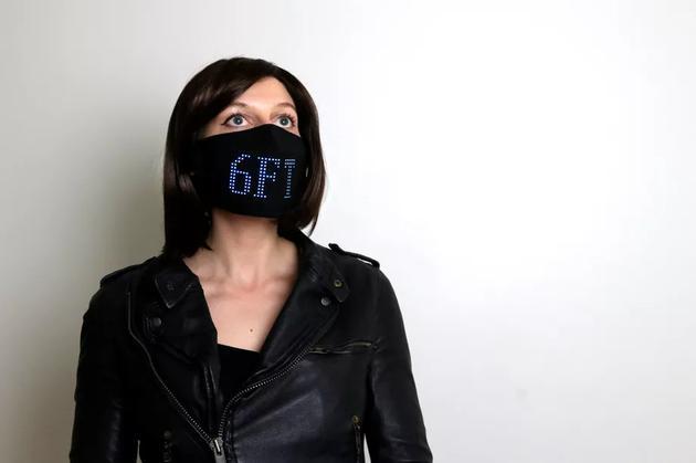 疫情下的时尚:可以自定义图案的LED口罩