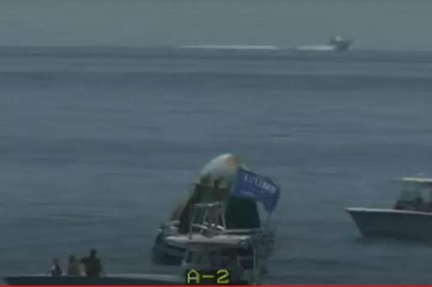 SpaceX太空舱成功溅落后被附近船只围观 引发一阵混乱
