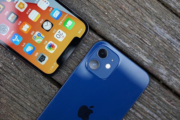 iPhone 12 Pro(左)和iPhone 12(右) 的背面