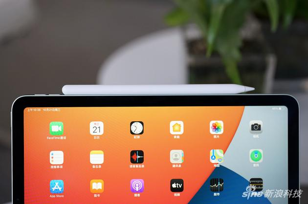 Apple Pencil完美吸附在iPad Air边框
