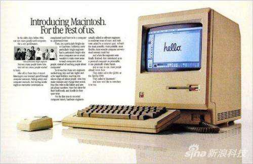 """早期麦金塔电脑上的""""Hello""""字体"""