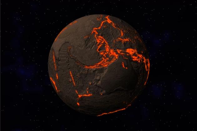 一项新钻研指出,在易发地震的俯冲带上,当地球板块俯冲到另一板块下方时,会把大量海水带入地球内部。