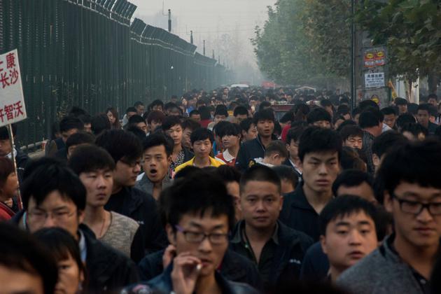 2015年,深圳富士康工厂员工