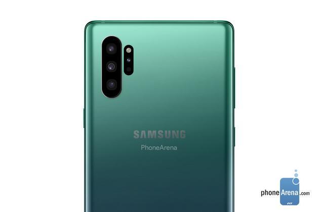 三星Galaxy Note 10采用竖直设计:摄像头设计神似华为?
