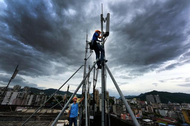 中国移动5G基站施工现场