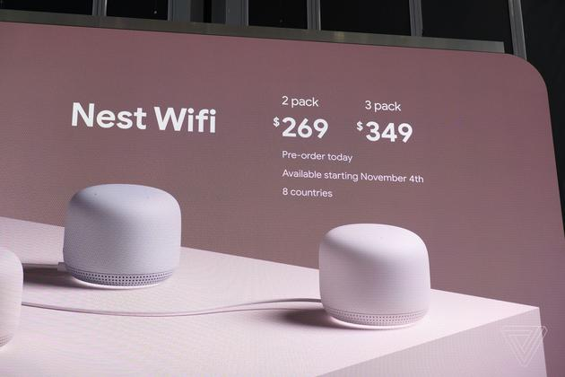 谷歌推出两款路由器新品,用于扩展WiFi信号