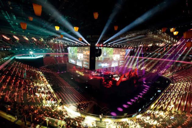 在北京举行的2020王者荣耀世界冠军杯总决赛现场。图/视觉中国