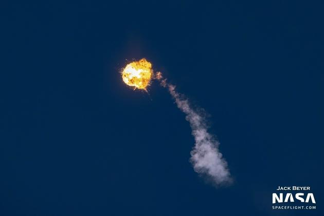 Alpha火箭起飞后1分45秒发生爆炸