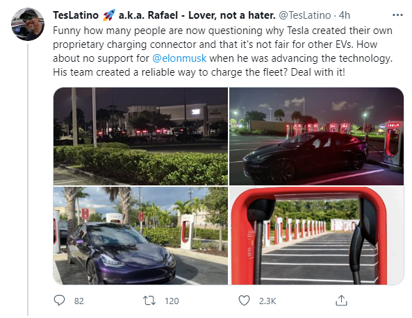 马斯克:特斯拉计划在今年晚些时候向其它电动汽车开放充电网络