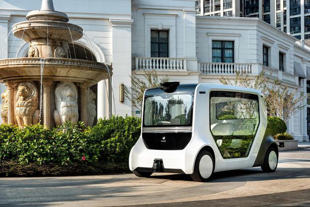 """图:hachi auto无人驾驶通勤车落地运营填补了""""智慧社区""""出行空白"""