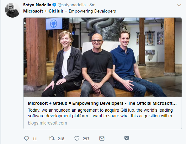 微软以价值75亿美元的股票收购代码托管平台GitHub的照片 - 3