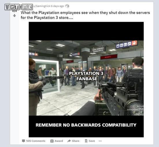 当索尼员工关闭PS3商店的时候,他们看到了什么?