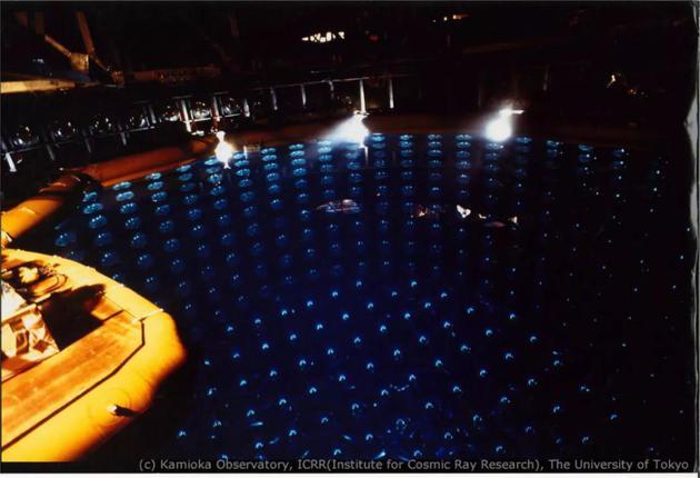 图:神冈探测器。来源:东京大学宇宙线钻研所