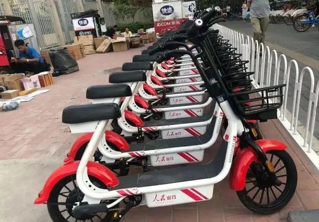 北京街头的人民出行共享电单车 来源:中国环境新闻