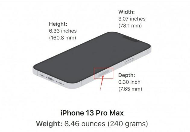 美版 iPhone 13 Pro Max 右侧有个天线