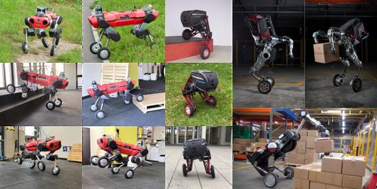 图 比来展现的腿轮机器人平台,如Wheeled-ANYmal、ASCENTO和Handle