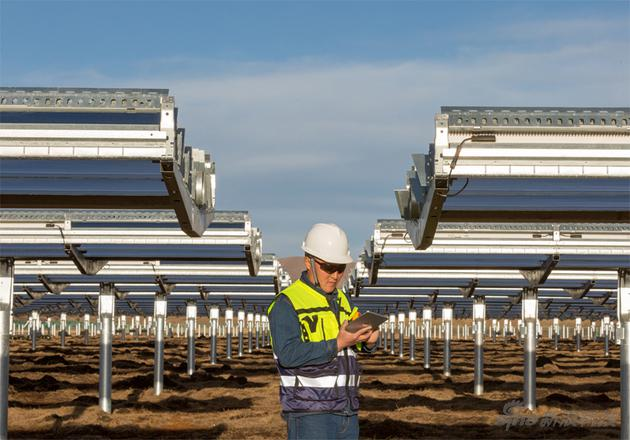 位于中国四川省的光伏电站(图片来自苹果官网)