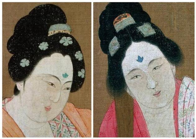 日本古代仕女图中女性利用脂粉进行美白的情景,来源:Pixabay.com