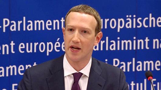 扎克伯格出席欧盟议会听证:为数据泄露事件道歉