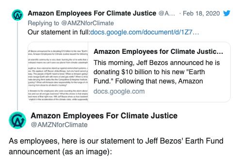 環保組織:貝索斯應停止與化石燃料行業合作