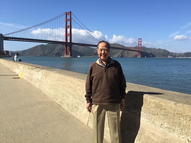 退休后的李政道教授(2016年1月26日摄于旧金山。图片来自上海交通大学李政道图书馆)