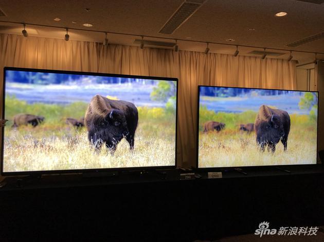 索尼Z9G和竞品画质对比