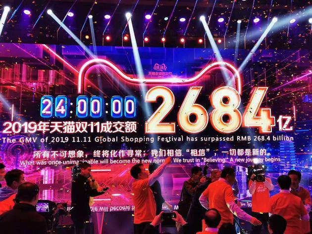 各平臺戰況:天貓2684億京東2044億 蘇寧拼多多未公布