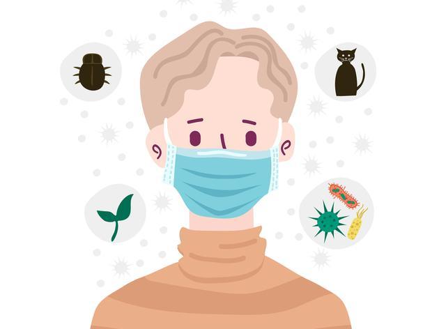 人们戴着口罩,以避免吸入空气中的污染物。