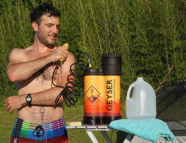 露营还想洗个热水澡? 有这款神器不成问题
