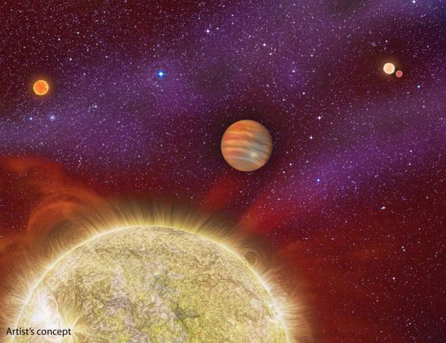 艺术示意图:系外行星就是指太阳系之外,围绕其他恒星运行的行星体。我们对于这些遥远世界几乎一无所知,对它们的内部结构则更加陌生