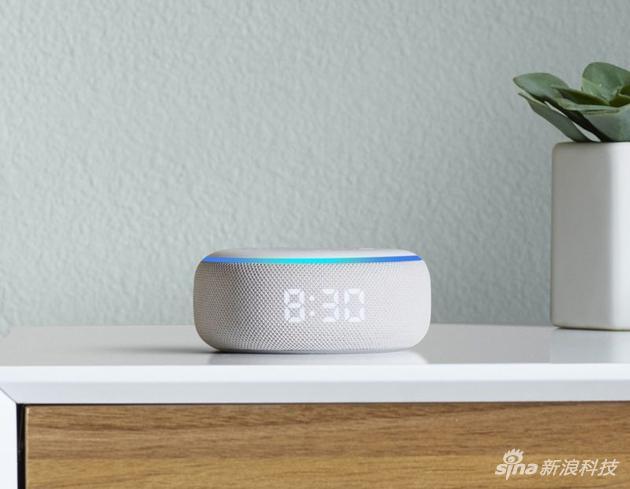 带时钟的Echo Dot