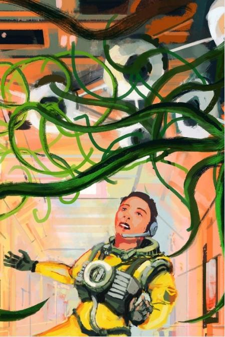 陈楸帆的科幻小说中描述植物学家Shengnan用研钵和研杵将韭菜捣碎,制作成一种长生不老药。
