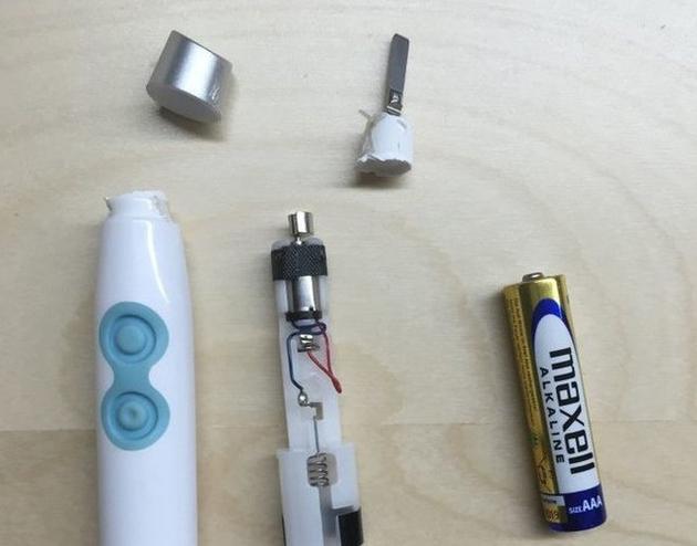 某国产电动牙刷的机构