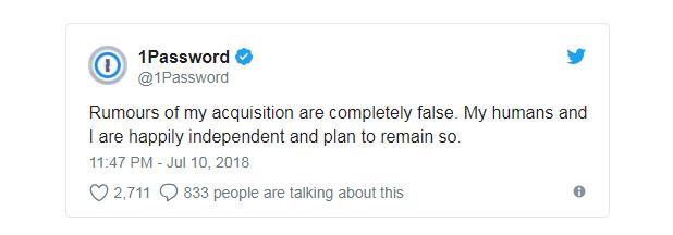 关于收购的传言完全是虚假的。