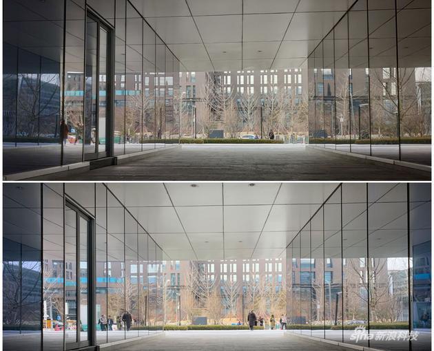 上为iPhone XS拍摄 下为米9
