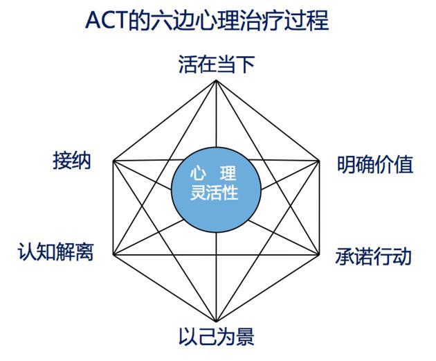 ACT的六边心理治疗模型