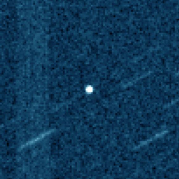 由国际科学光学监测网(ISON)拍摄的近地小行星2019 OK图像(经过着色)