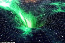 超大质量黑洞能引起时空的塌陷(想象图)。