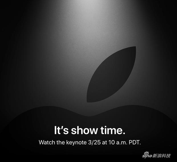 """苹果官方这次的邀请函宣传语""""It's show t ime""""其实已经说明发布会主角是视频服务"""