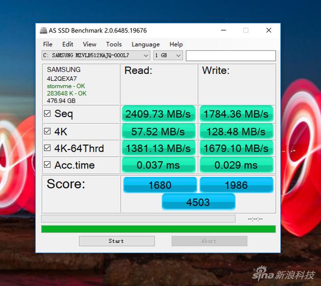 AS SSD软件测试