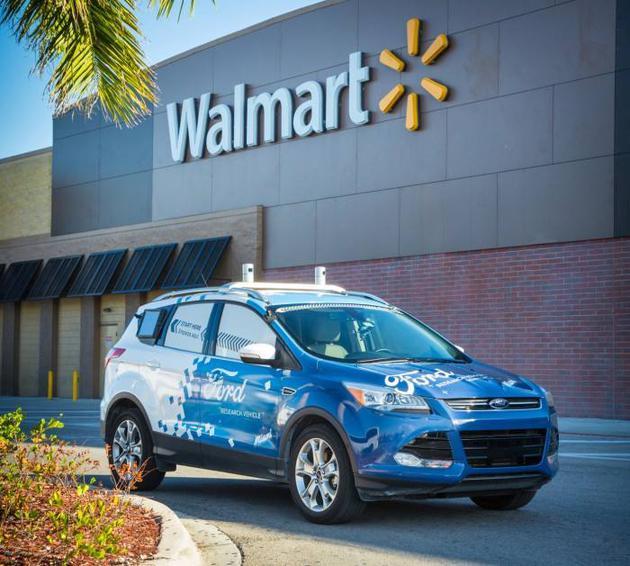 福特汽车与沃尔玛宣布合作推出自动驾驶汽车送货到家服务