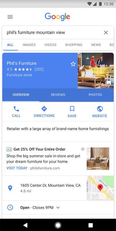 谷歌地图服务加广告