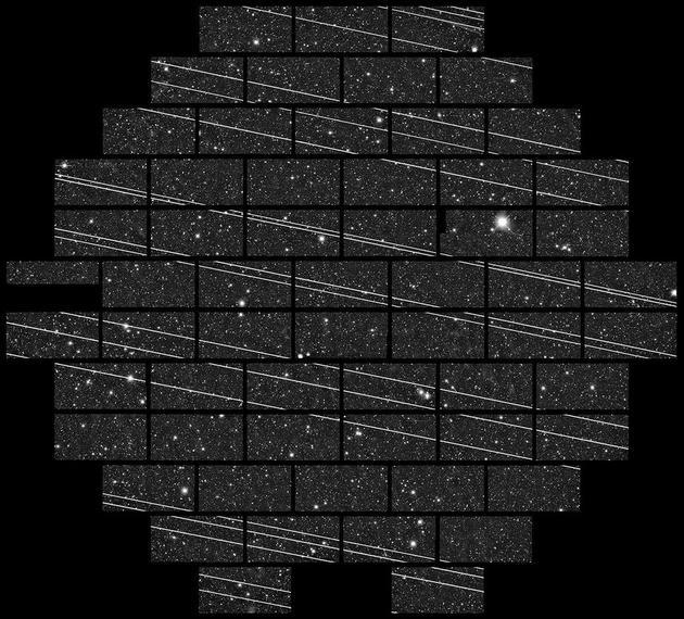 图7:智利Cerro Tololo Inter-American Observatory(CTIO)拍摄到的第二批星链卫星。来源:NSF's National Optical-Infrared Astronomy Research Laboratory/CTIO/AURA/DELVE
